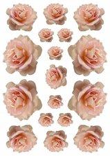 Fietsstickers bloemen rozen zalm