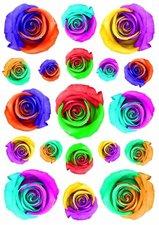 Fietsstickers bloemen rozen mix kleur