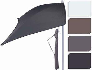 Balkon parasol room wit met voet 165x105cm