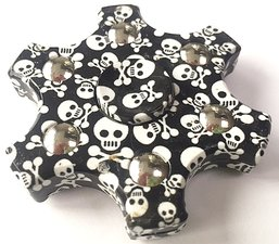 6-star fidget spinner doodskop skull