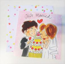 Blond Amsterdam kaart Just married 2