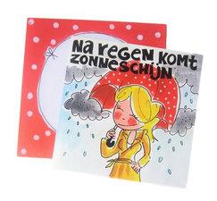Blond Amsterdam kaart Na regen komt zonneschijn