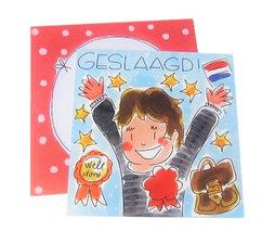 Blond Amsterdam kaart Geslaagd!