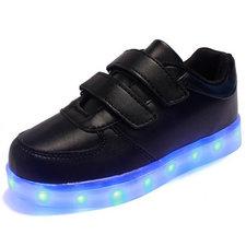 Kinderschoenen met leds zwart (mt 28-34)