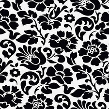 Doorzichtig tafelzeil barok zwart