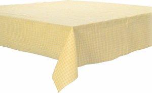 Papieren tafelkleed ruitjes geel