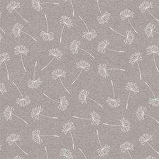 Groot rond tafelzeil pluis bloemen grijs (160cm)