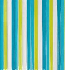 Vliegengordijn plastic stroken groen/blauw 90x220cm