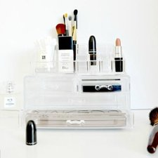 Make-up Organizer vierkant met lades groot/klein