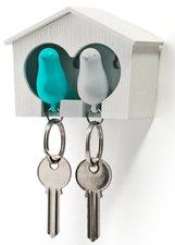 Qualy sleutelkastje 2 vogels blauw/wit