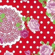 Tafelzeil funky flowers rood
