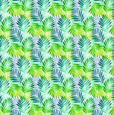 Tafelzeil palmbladeren groen/blauw