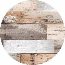 Groot rond tafelzeil hout bruin (160cm)