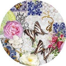 Groot rond tafelzeil mosaiek vlinders (160cm)