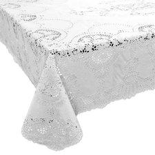 Tafelkleed buiten vinyl wit 137x180cm