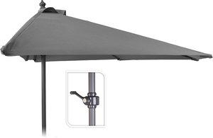 Balkon parasol 250x125cm grijs met voet