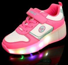 Schoenen met wieltjes Easy pink (mt 34-37)