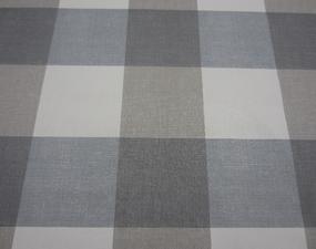 35x140 Restje tafelzeil blokken grijs/blauw