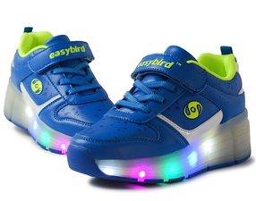 Schoenen met wieltjes Easy blue (mt 30-37)
