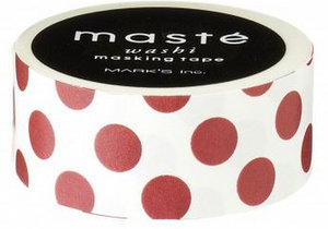 Masking tape Masté stippen rood