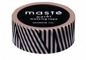Masking tape Masté strepen zwart