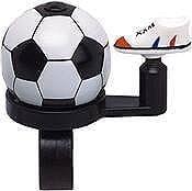 Fietsbel voetbal wit/zwart