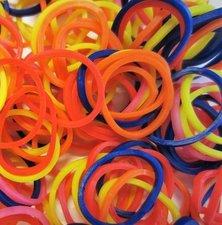 300 Loombands mix kleur