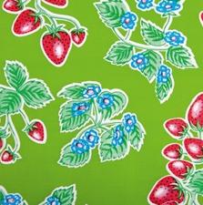 Ovaal Mexicaans tafelzeil aardbei groen