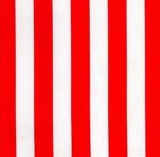 Rond Mexicaans tafelzeil strepen rood (120cm)