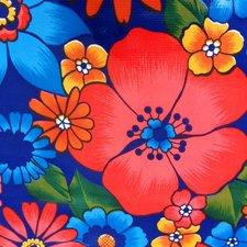 Rond Mexicaans tafelzeil Rain of flowers paars (120cm)
