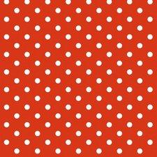 Ovaal Mexicaans tafelzeil rood met witte stippen