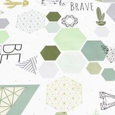 Ovaal tafelzeil geometrie & origamie