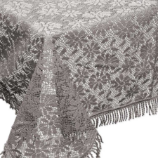 Buiten tafelkleed schuimvinyl 150x220cm kasteel grijs (dikke kwaliteit)