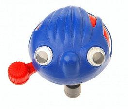 Fietsbel met ogen blauw/rood