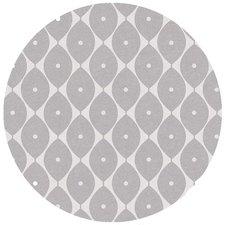 Rond tafelzeil abstracte ovaaltjes grijs (ca. 137cm)