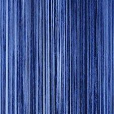 Draadjesgordijn blauw 100x250cm