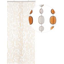 Kralengordijn pailletten bruin 90x200cm (49 strengen)