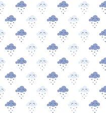 Statisch raamfolie wolkjes blauw (46cm)