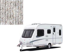 Vliegengordijn caravan bruin/wit/grijs 56x185cm