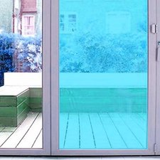 Aslan raamfolie transparant blauw RAL 5012 (125cm)
