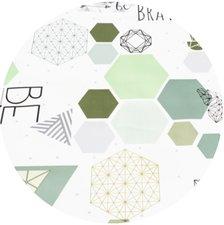 Rond tafelzeil geometrie & origami (140cm)