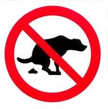 Pictogram sticker Hier geen hondenpoep