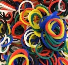 600 loombands extra sterk (gekleurd)