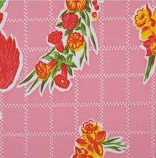 Rond Mexicaans tafelzeil rosendal roze (120cm)