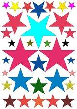 Fietsstickers gekleurde sterren