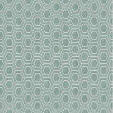 45x140cm Restje tafelzeil honingraat groen/grijs
