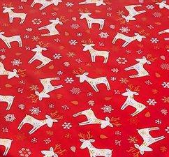 Rond kerst tafelzeil eland rood (140cm)
