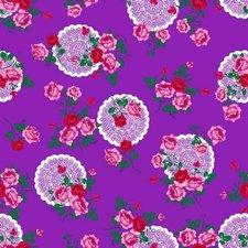 Tafelzeil funky flowers paars