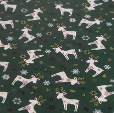 35x140 Restje Kerst tafelzeil eland donkergroen