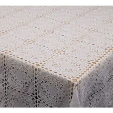 60x140cm Restje tafelzeil kant wit